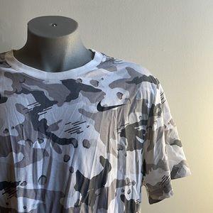 Grey Camouflage Nike Cotton T Shirt XXL NWT